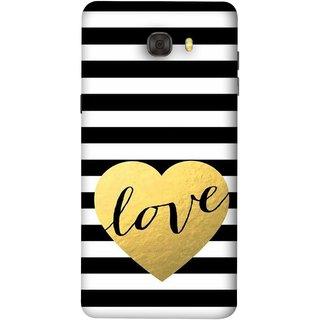 FUSON Designer Back Case Cover For Samsung Galaxy C7 Pro (Hearts Lovely Girls True Love Dark Font)