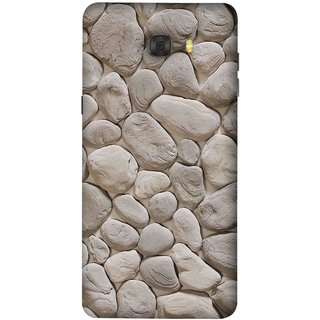FUSON Designer Back Case Cover For Samsung Galaxy C7 Pro (Landscape River Old Rock Sizes Irregular Shapes Mat)