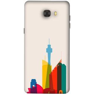 FUSON Designer Back Case Cover For Samsung Galaxy C7 Pro (Industrial Best Wallpaper Design India America Asia Uae)