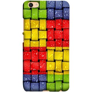 FUSON Designer Back Case Cover For Oppo F3 Plus (Bright And Beautiful Colour Strips And Band Wave )