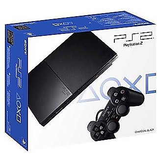 Sony Play Station 2 Gaming Console Black Slim