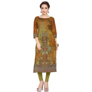 Ziyaa Casual Wear Multicoloured Digital Print Cotton Kurti