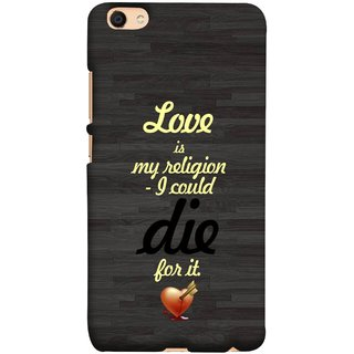 FUSON Designer Back Case Cover For Oppo F3 (Broken Heart Arrow Quotes Pyar Hi Mera Dharm Hai)