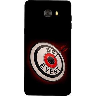 FUSON Designer Back Case Cover For Samsung Galaxy C7 Pro (Big Event Bulls Eye Arrow Target Sign Bang On)