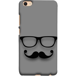 FUSON Designer Back Case Cover For Oppo F3 (Mustache Glasses T-Shirt Young Boys Back Cover)