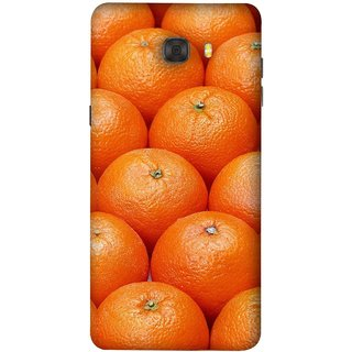 FUSON Designer Back Case Cover For Samsung Galaxy C7 Pro (Countryside Scent Of Orange Blossoms Citrun )