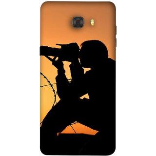 FUSON Designer Back Case Cover For Samsung Galaxy C7 Pro (Life Through A Lens Sunset Silhouette Camera Lens)