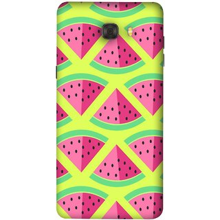 FUSON Designer Back Case Cover For Samsung Galaxy C7 Pro (Watermelon Slice Pattern Of Ripe Handdrawing )