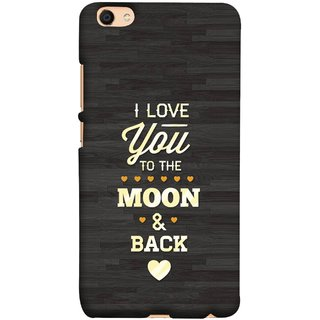 FUSON Designer Back Case Cover For Oppo F3 (Main Chand Tak Pyar Karta Hu Love Birds Heart)