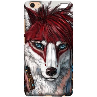 FUSON Designer Back Case Cover For Oppo F3 Plus (Blue Eyes Girl Hairs Hairstyles Wolf Large Ears)