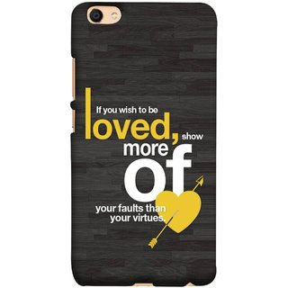 FUSON Designer Back Case Cover For Oppo F3 (Broken Heart Arrow Quotes Show More Your)
