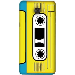 FUSON Designer Back Case Cover For Samsung Galaxy C9 Pro (Tape Cassette Black Film Screws Old Player)