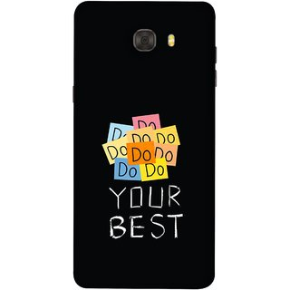 FUSON Designer Back Case Cover For Samsung Galaxy C7 Pro (Forget The Rest Quotes Happy In Life)
