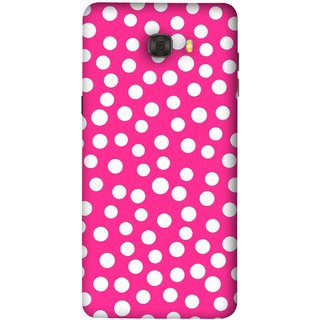FUSON Designer Back Case Cover For Samsung Galaxy C9 Pro (Small Bubbles Marbles Circle Pink Board)