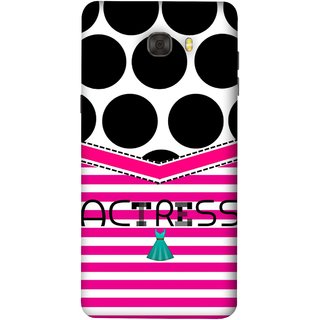 FUSON Designer Back Case Cover For Samsung Galaxy C7 Pro (Beautufil Actress Movies Bollywood Nice Pink Design Paper)