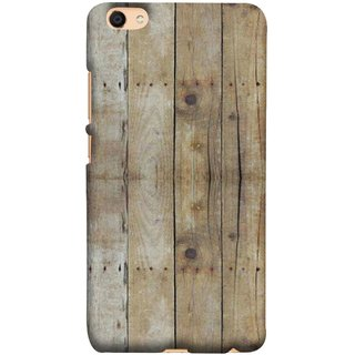 FUSON Designer Back Case Cover For Oppo F3 Plus (Wooden Back Cover Plates Nails Cracks Joints)