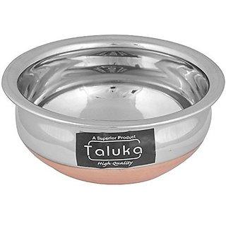 Taluka Copper Bottom Stainless Steel Handi 1000 ml 18 cm x 18 cm x 7.5 cm THCB1000