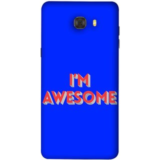 FUSON Designer Back Case Cover For Samsung Galaxy C9 Pro (I Am Lovely Wow Fact Motivational Inspirational Words)