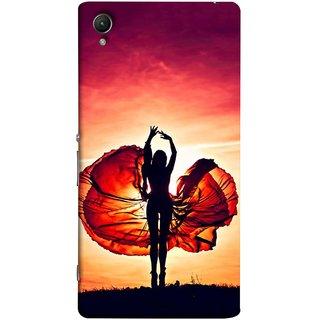 FUSON Designer Back Case Cover For Sony Xperia Z3+ :: Sony Xperia Z3 Plus :: Sony Xperia Z3+ Dual :: Sony Xperia Z3 Plus E6533 E6553 :: Sony Xperia Z4 (Beautiful Female Dancer Silhouette In The Sun )