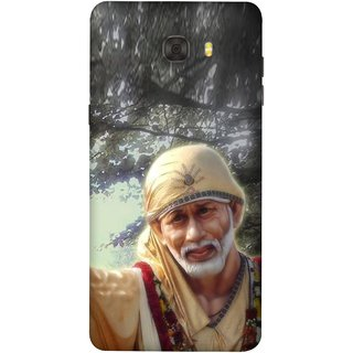 FUSON Designer Back Case Cover For Samsung Galaxy C7 Pro (Shirdi Wale Sai Baba Sainath God Shradha Saburi Pooja)