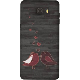 FUSON Designer Back Case Cover For Samsung Galaxy C9 Pro (Lovely Pair Of Cute Birds Kissing Hairband )