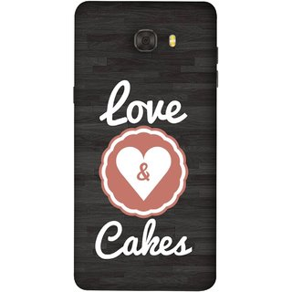 FUSON Designer Back Case Cover For Samsung Galaxy C9 Pro (Heart Shape Cakesbest Perfect Wow Pyar Prem)