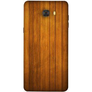 FUSON Designer Back Case Cover For Samsung Galaxy C9 Pro (Unique Wooden Pine Background Vintage Table Tiles)