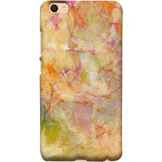 FUSON Designer Back Case Cover For VIVO Y66 (Colors Yellow Light Bright Paint Wallpaper Design )