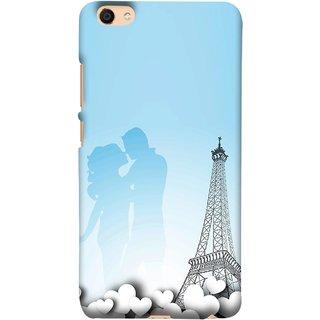 FUSON Designer Back Case Cover For VIVO Y66 (Eiffel Tower True Love Couples Kisses Sky )