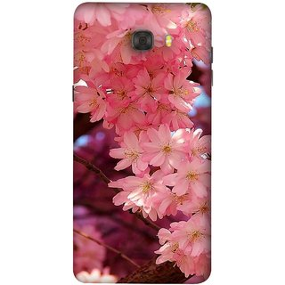 FUSON Designer Back Case Cover For Samsung Galaxy C7 Pro (Flowering Cherry Trees Pink Perfection Lovely Love )