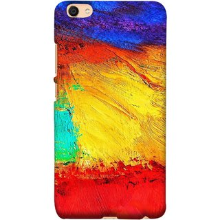 FUSON Designer Back Case Cover For VIVO Y66 (Colour Canvas For Hall Bedroom Painting Intresting Lot)