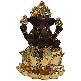 Ganesha On Lotus (T-Gold Plated)