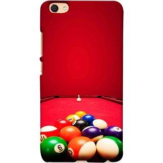 FUSON Designer Back Case Cover For VIVO Y66 (Billards Pool Game Color Balls In Triangle Aiming)