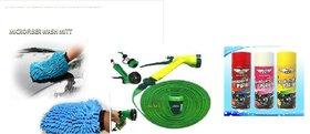 Combo For Car Dashboard Polish+ Microfiber Gloves+ Water Spray Gun
