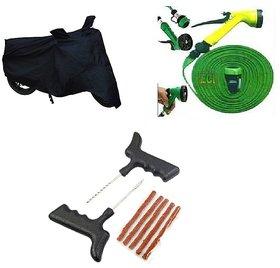 Combo for Bike Body Cover+Water Spray gun + Puncher Kit