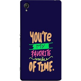 FUSON Designer Back Case Cover For Sony Xperia Z4 Compact :: Sony Xperia Z4 Mini (Blue Background Best Friends Always Together)