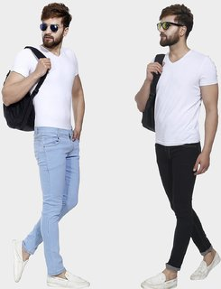 Pack of 2 Men Slim Fit Streachabe jeans by Klick2style