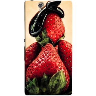 FUSON Designer Back Case Cover For Sony Xperia Z :: Sony Xperia ZC6603 :: Sony Xperia Z L36h C6602 :: Sony Xperia Z LTE, Sony Xperia Z HSPA+ (Best Fresh Strawberry Sweet Dish Homemade Recipes)