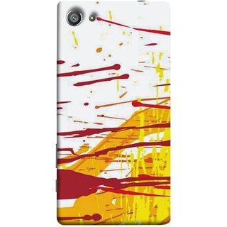 FUSON Designer Back Case Cover For Sony Xperia Z5 Compact :: Sony Xperia Z5 Mini (Artwork Acid Bright Wallpaper Yellow Shades)