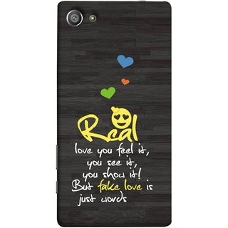 FUSON Designer Back Case Cover For Sony Xperia Z5 Compact :: Sony Xperia Z5 Mini (Real Love True False Love Words See It Show It )