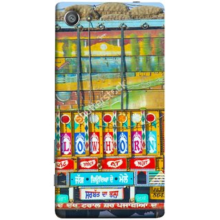 FUSON Designer Back Case Cover For Sony Xperia Z5 Compact :: Sony Xperia Z5 Mini (Decorated Goods Carrier On Indian Road Stop Dil Tera)