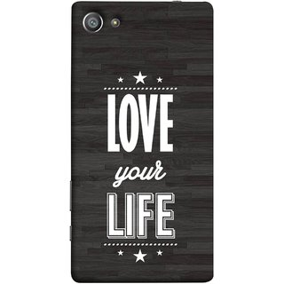 FUSON Designer Back Case Cover For Sony Xperia Z5 Compact :: Sony Xperia Z5 Mini (Always Love Your Life Fullest For Family )