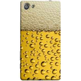 FUSON Designer Back Case Cover For Sony Xperia Z5 Compact :: Sony Xperia Z5 Mini (Life Hoto Beer Glass Bubble Daaru Drink Wine Fuzzy)