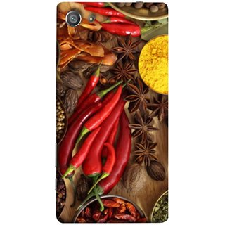 FUSON Designer Back Case Cover For Sony Xperia Z5 Compact :: Sony Xperia Z5 Mini (Set Of Indian Spices On Wooden Table Powder Spices)