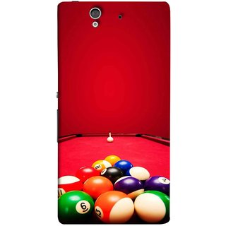 FUSON Designer Back Case Cover For Sony Xperia Z :: Sony Xperia ZC6603 :: Sony Xperia Z L36h C6602 :: Sony Xperia Z LTE, Sony Xperia Z HSPA+ (Billards Pool Game Color Balls In Triangle Aiming)