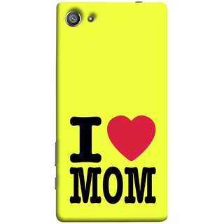 FUSON Designer Back Case Cover For Sony Xperia Z5 Compact :: Sony Xperia Z5 Mini (Yellow Background Mother Hearts Pure And True Love)