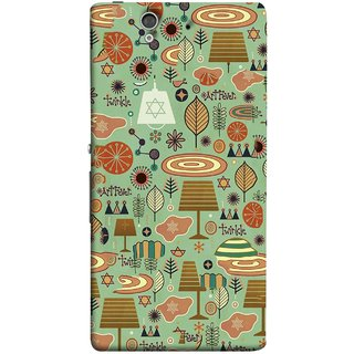 FUSON Designer Back Case Cover For Sony Xperia Z :: Sony Xperia ZC6603 :: Sony Xperia Z L36h C6602 :: Sony Xperia Z LTE, Sony Xperia Z HSPA+ (Retro Summer Village Vector Artwork Unique Designs)