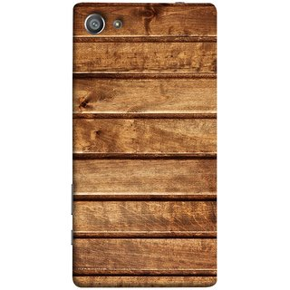 FUSON Designer Back Case Cover For Sony Xperia Z5 Compact :: Sony Xperia Z5 Mini (Wood Furniture Table Door Solid Beautiful Art Wallpaper)