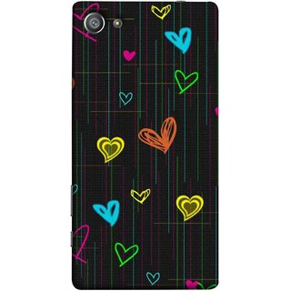 FUSON Designer Back Case Cover For Sony Xperia Z5 Compact :: Sony Xperia Z5 Mini (Multicolour Hearts Shapes Shining Shapes Loopable)