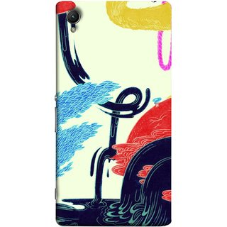 FUSON Designer Back Case Cover For Sony Xperia Z5 Premium :: Sony Xperia Z5 4K Premium Dual (Multicolour Waterfall Oilpaint Blue Rajhans Locket)